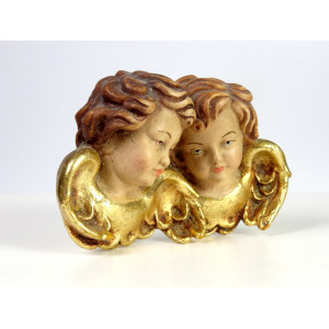 Vintage Wooden Putti Heads