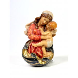 Vintage Wooden Madonna with...