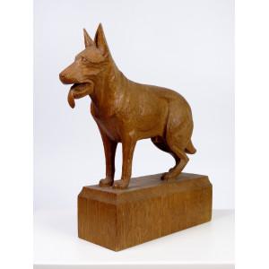 Art Deco Shepherd Dog Wood...