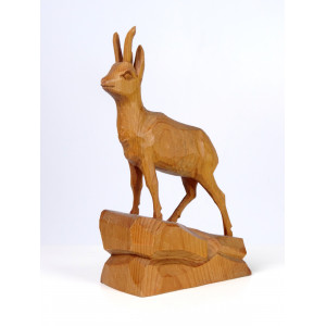 Wooden Chamois Sculpture