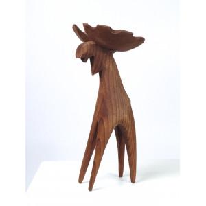 Mid-Century Wooden Moose,...