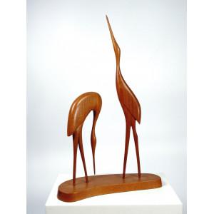 Vintage Wooden Sculpture of...