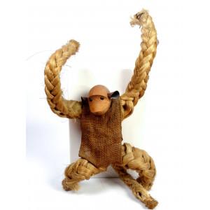 Vintage Sisal Rope Monkey