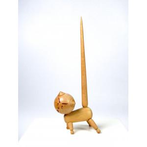 Wooden Cat Ring Holder