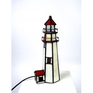 Lighthouse Lamp in Tiffany...