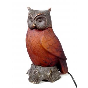 Tin Chi Owl Lamp