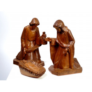 Hand Carved Nativity Group