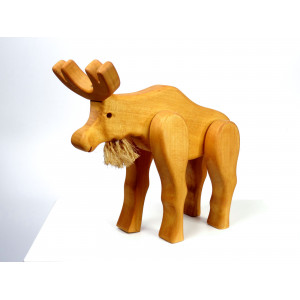 Vintage Wooden Toy Moose