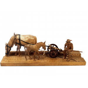 Farmer with Plow and Horses