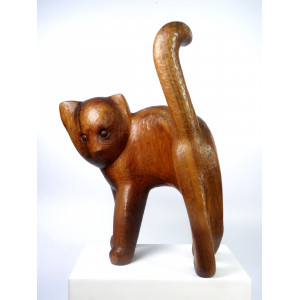 Large Wooden Minimalist Cat...