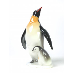 Penguins Porcelain Figurine...