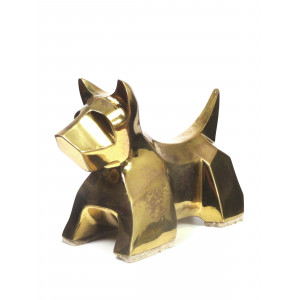 Modernist Brass Scottie Dog