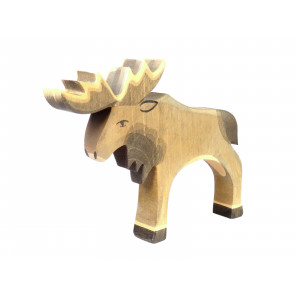 Wooden Toy Moose by Ostheimer