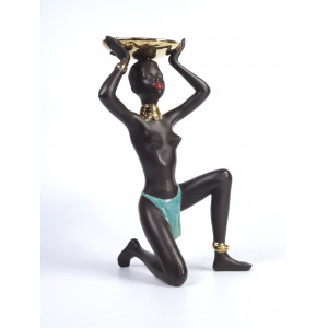 African Woman with Bowl by...