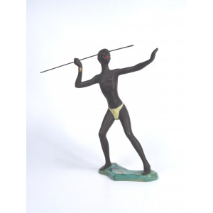 African Man with Spear by...