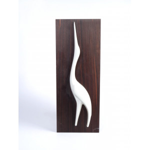 Heron Wall Plaque by Sgrafo