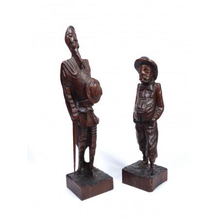 Sculptures Don Quixote and Sancho Panza
