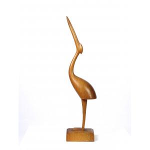 Vintage Wooden Heron