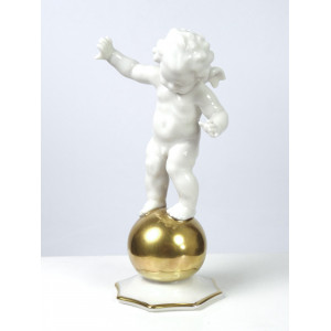 Cherub Balancing on Ball by...