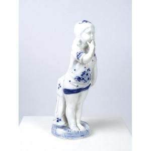 Antique Bathing Girl Figurine