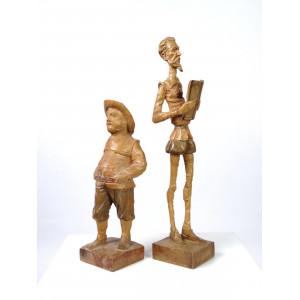 Sculptures Don Quixote and...