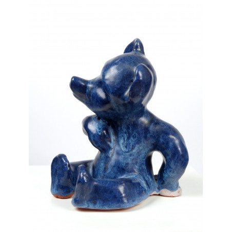 Mid-Century Ceramic Bear Figurine