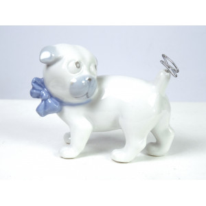 Porcelain dog by Pfeffer Gotha