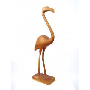 Vintage Wooden Flamingo