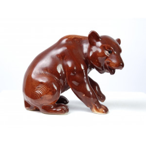 Sitting Bear Figurine, GDR...