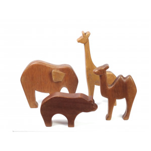 Wooden Toy Animals Wildlife