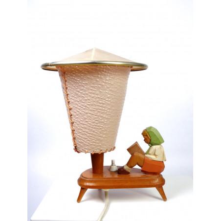 Mid-Century Figurine Bedroom Lamp