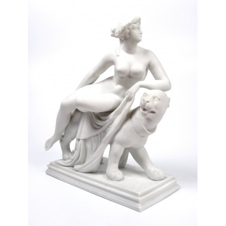 Large Parian Ware 'Ariadne on the Panther'