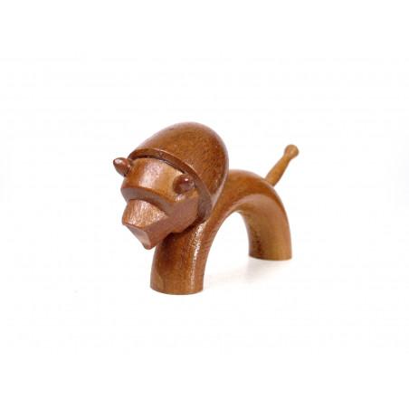 Mid-Century Wooden Lion