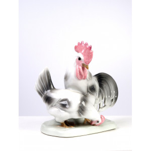 Rooster with Hen by Galluba...