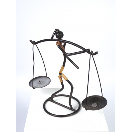 Vintage Wire Puppet Candle Holder