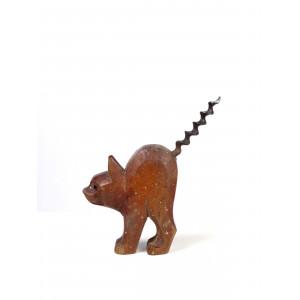 Cat Sculpture as Corkscrew