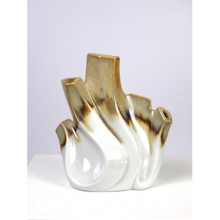 Mid-Century Op Art Vase, Sgrafo