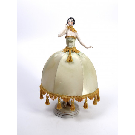 Art Deco Half Doll Table Lamp