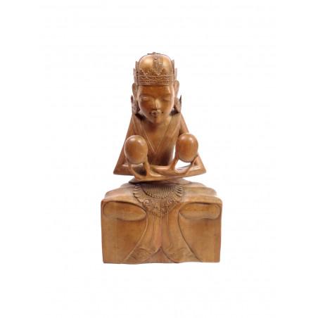 Balinese Art Deco Sculpture Goddess Winata