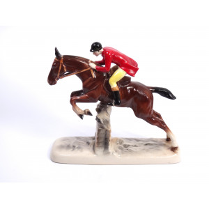 Jumping Horse with Rider by...