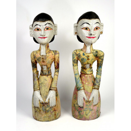 Large Wooden Balinese Statues