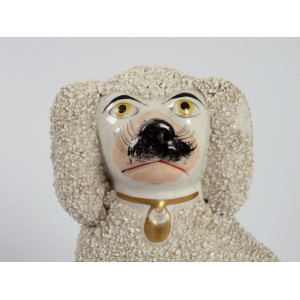 Poodle Dog by Staffordshire
