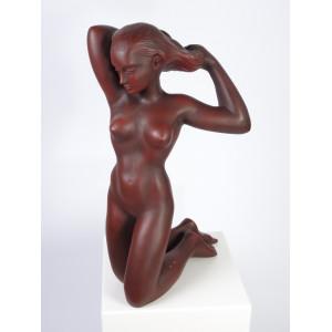 Nude Kneeling Down by Achatit