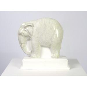 Porcelain Elephant Figurine