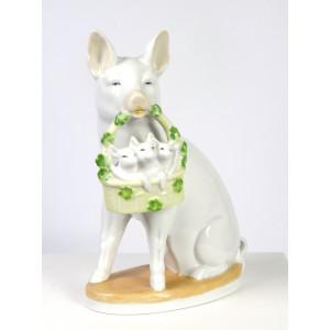 Vintage Ceramic Pig with...