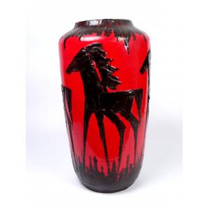 Scheurich Horses Floor Vase...