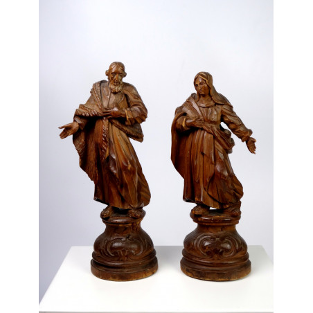 Mary and Joseph Sculptures, Flat Back