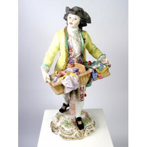 Porcelain Peddler Figurine,...