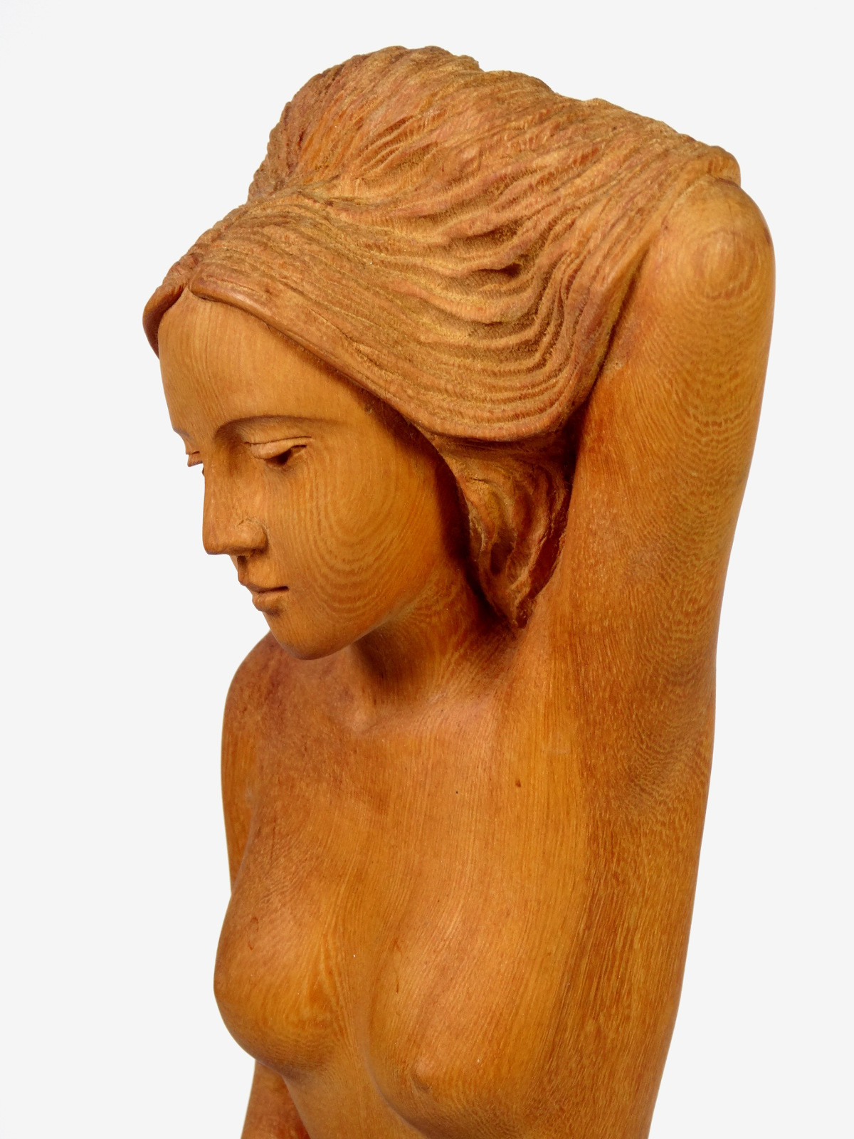 Kneeling Nude, Large Wood Sculpture